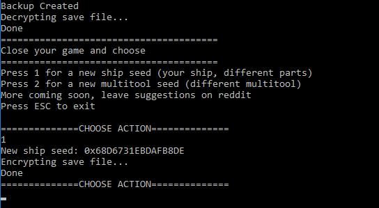 Seed Changer (ship,multitool changer)