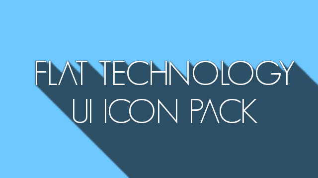 Flat Technology UI Icon Pack