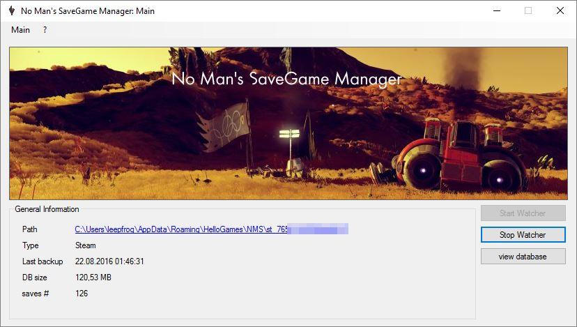 No Man's SaveGame Manager