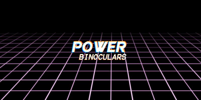 Power Binoculars – Retro 80's Binoculars
