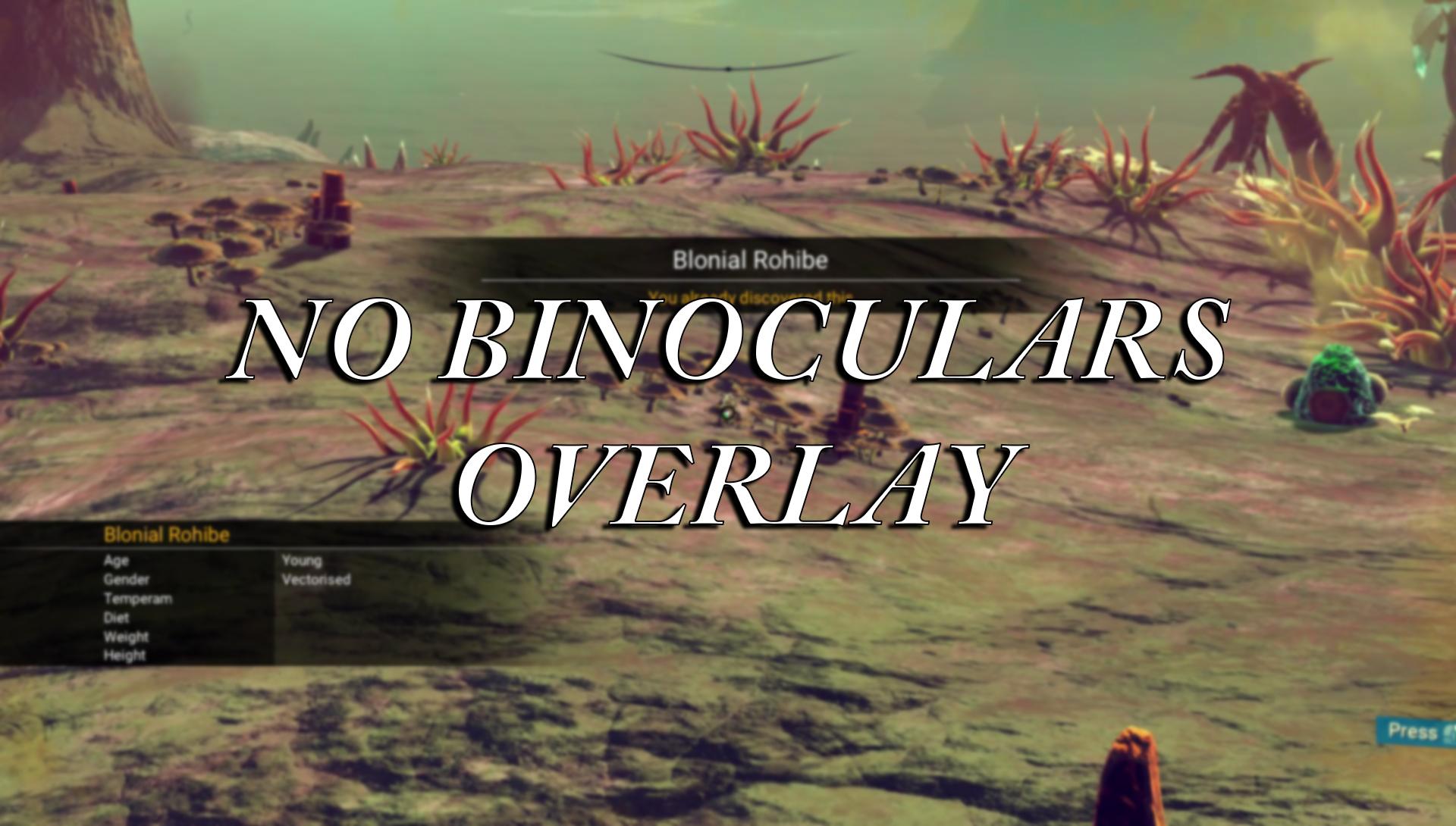 No Binoculars Overlay/HUD