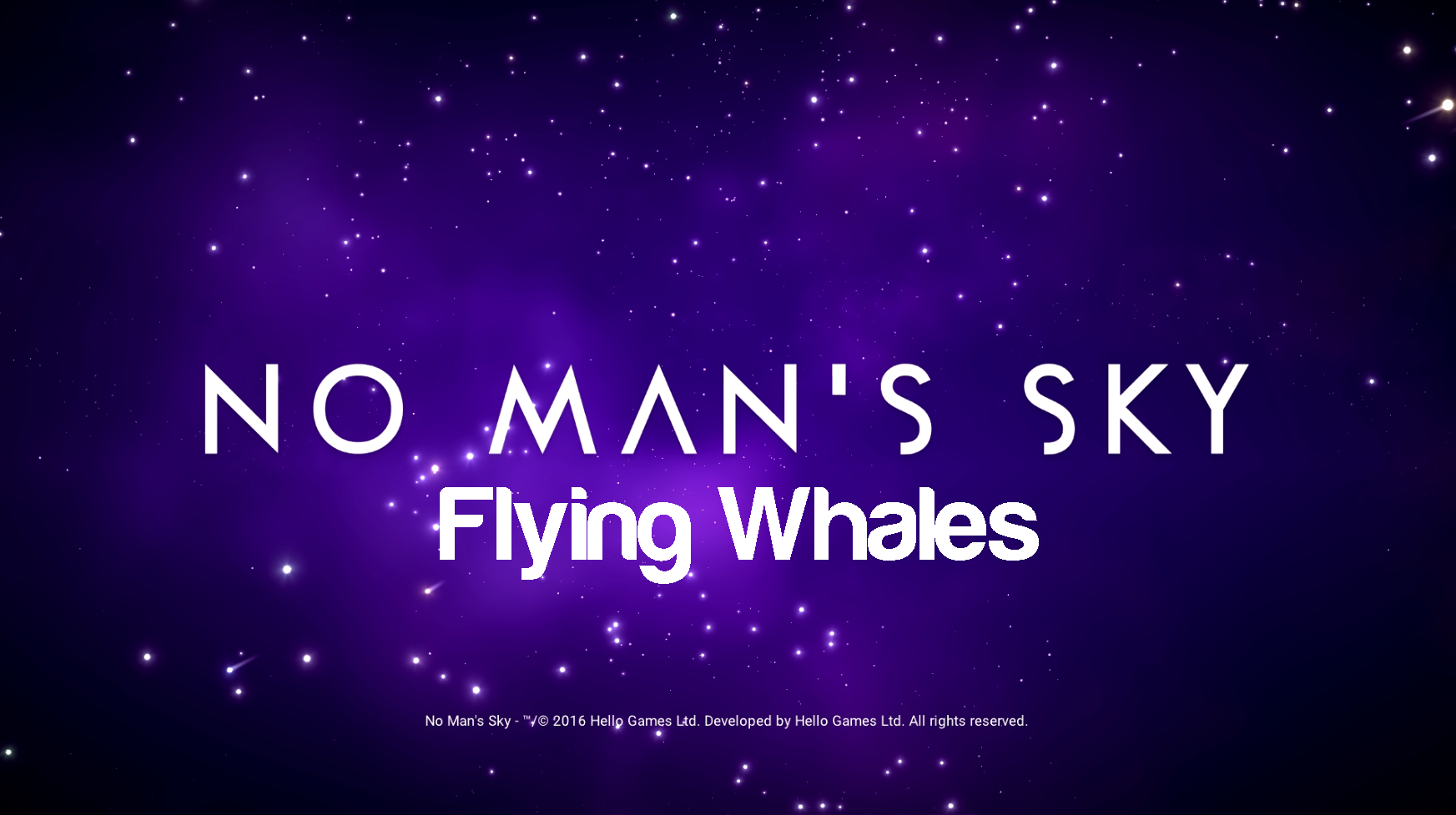 Flying Whales as Loading screen music