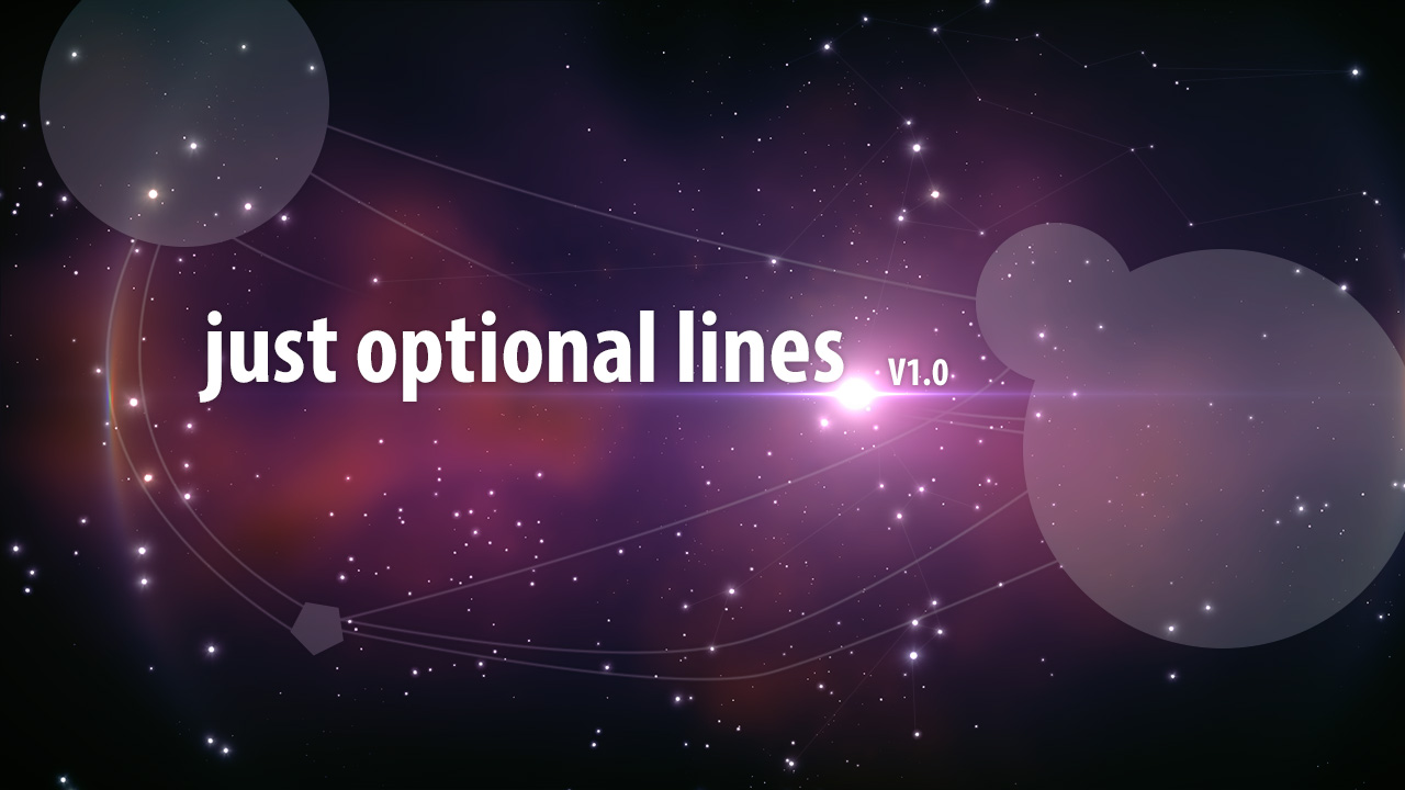 Just Optional Lines