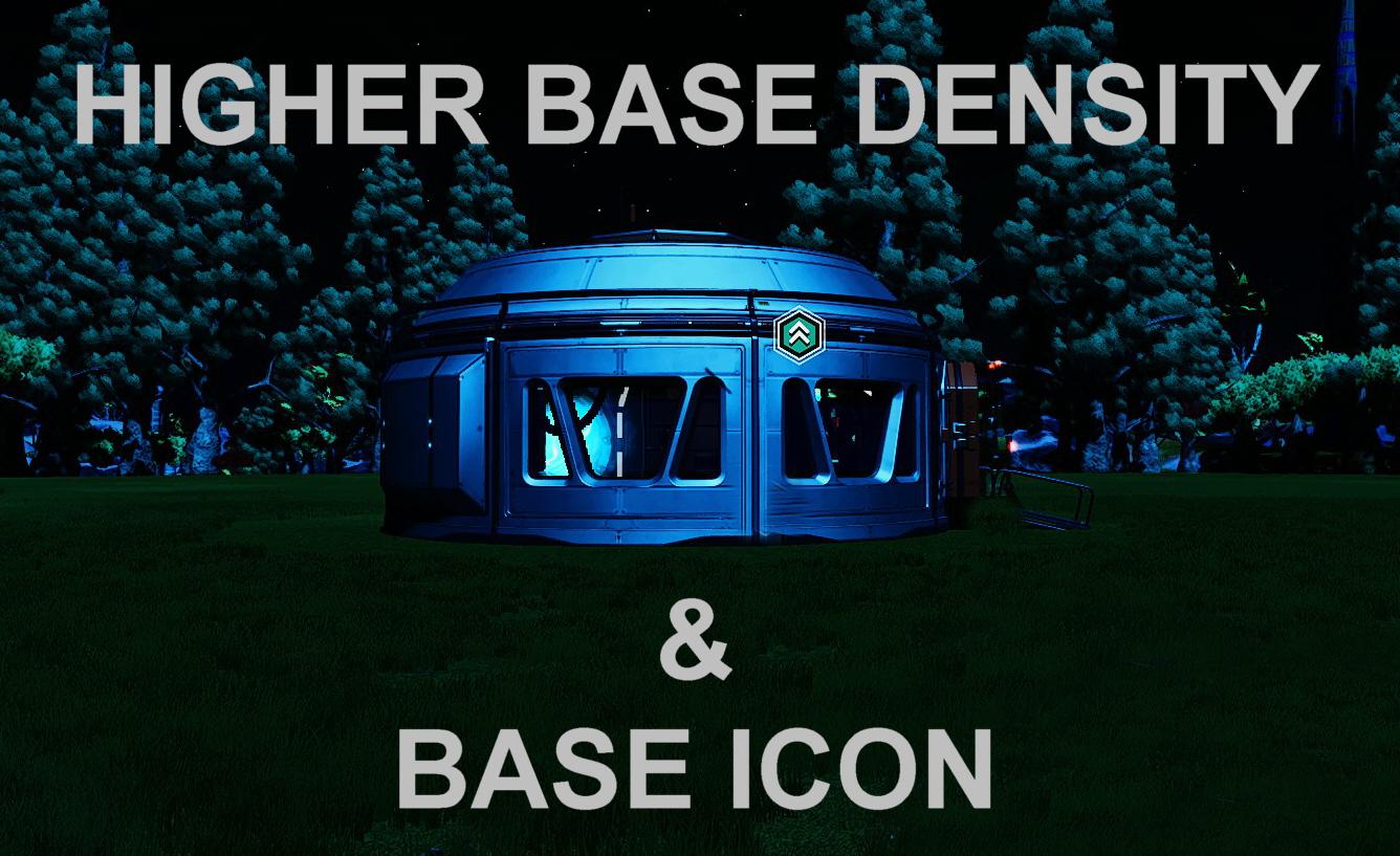 HIGHER BASE DENSITY + BASE ICONs