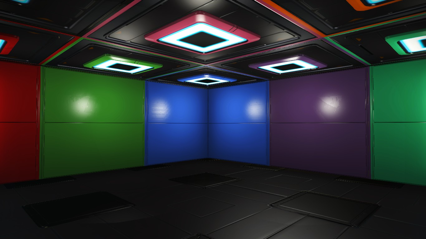 Customizable Colorful Cuboid Rooms