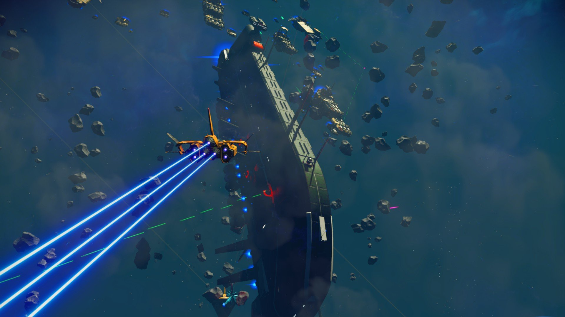 More Freighter & Space-Battles –  NEXT