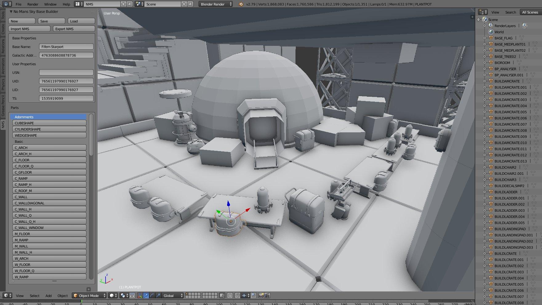 No Mans Sky: Base Builder for Blender