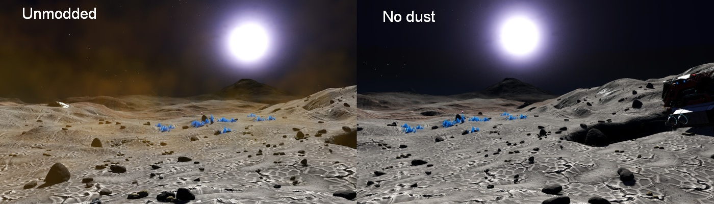 No Atmosphere No Dust