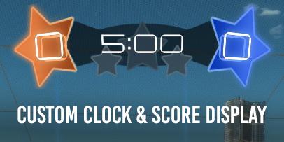 STAR CLOCK AND SCORE DISPLAY