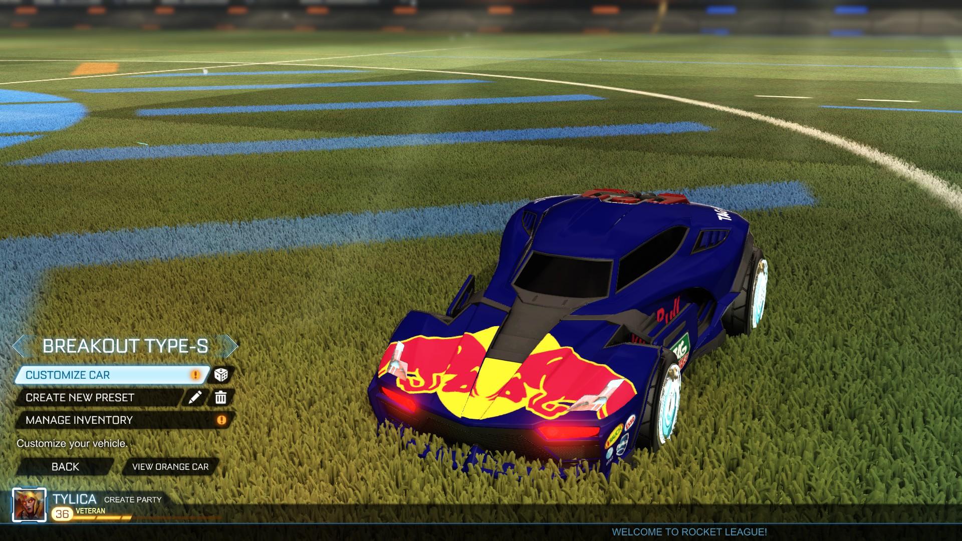 Breakout Type-S Red Bull skin + easter festivities pack