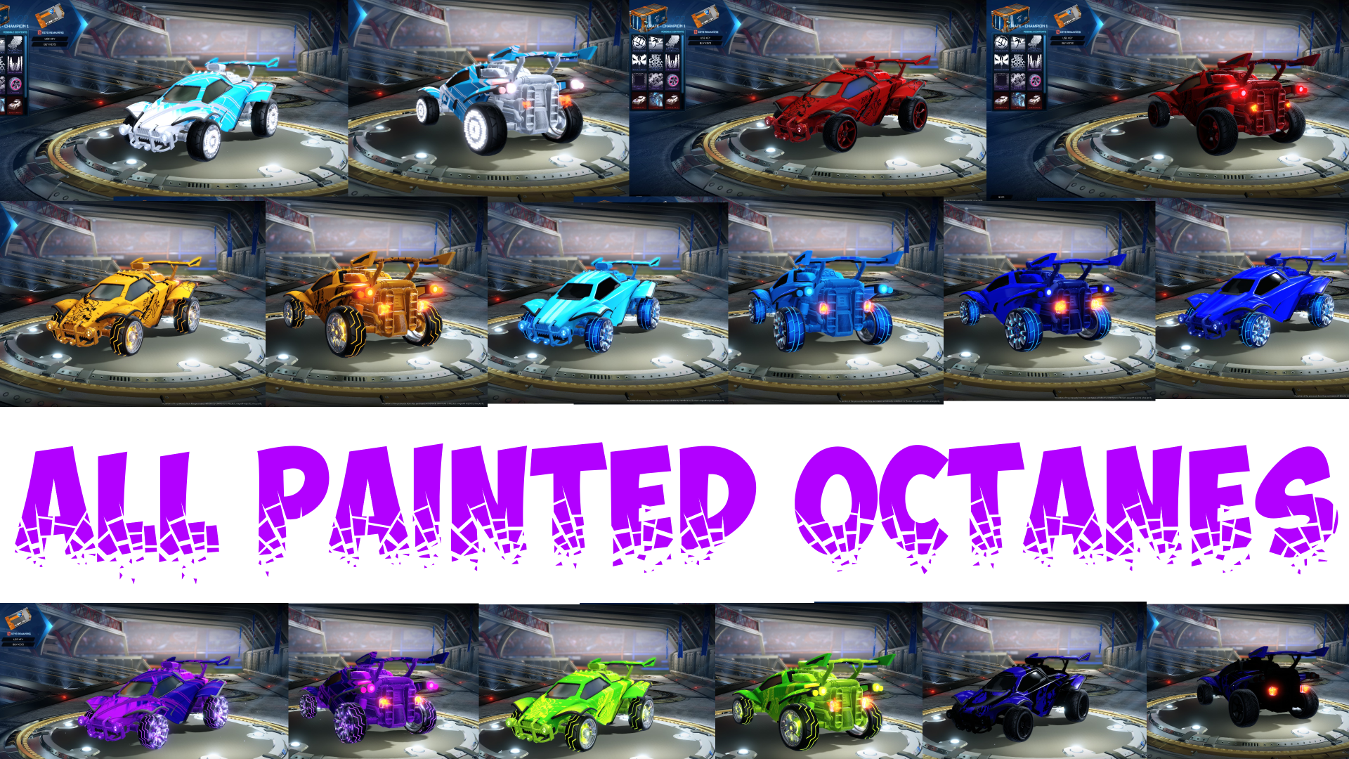 PAINTED OCTANES! ALL COLORS/PAINTS IN 1 MOD!