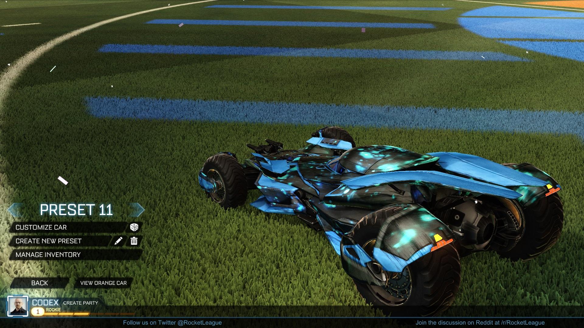 Blue light Batmobile