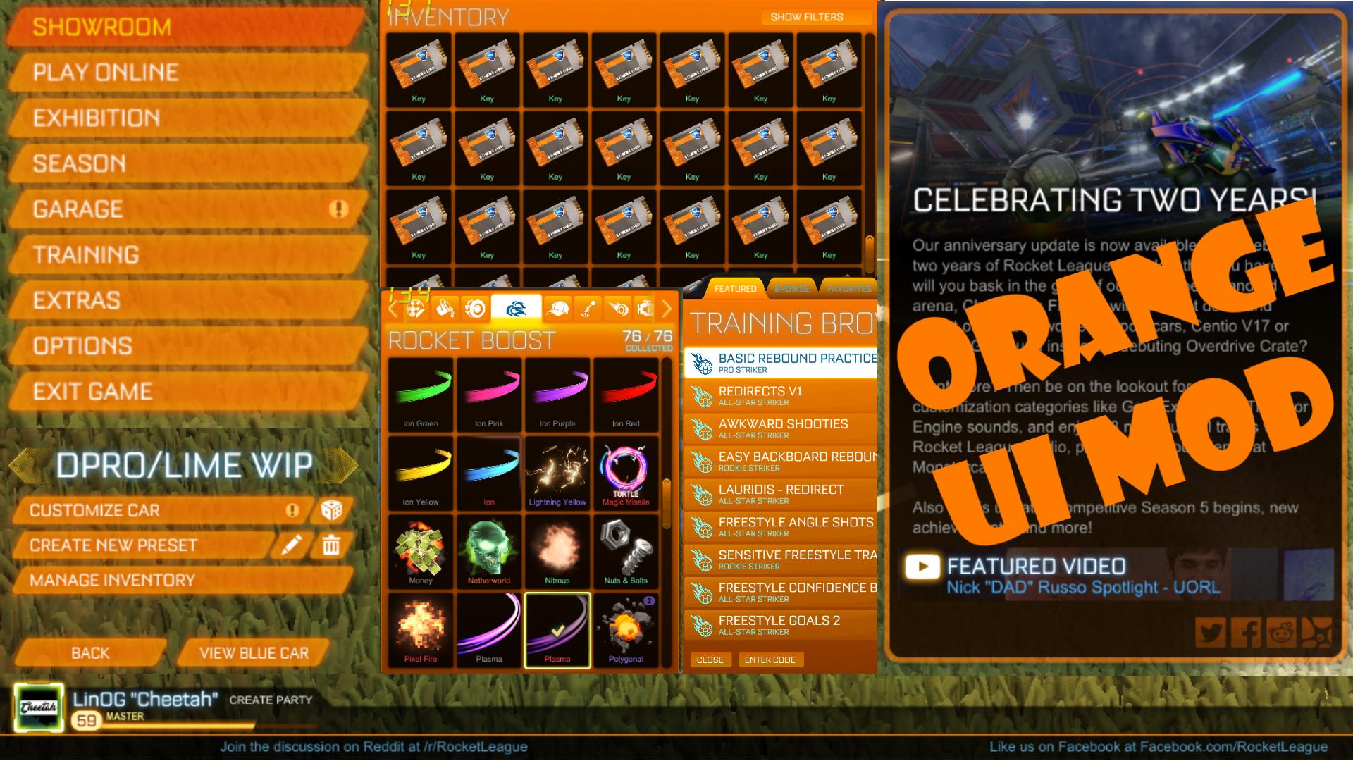 Painted UI Mod [Orange Version]