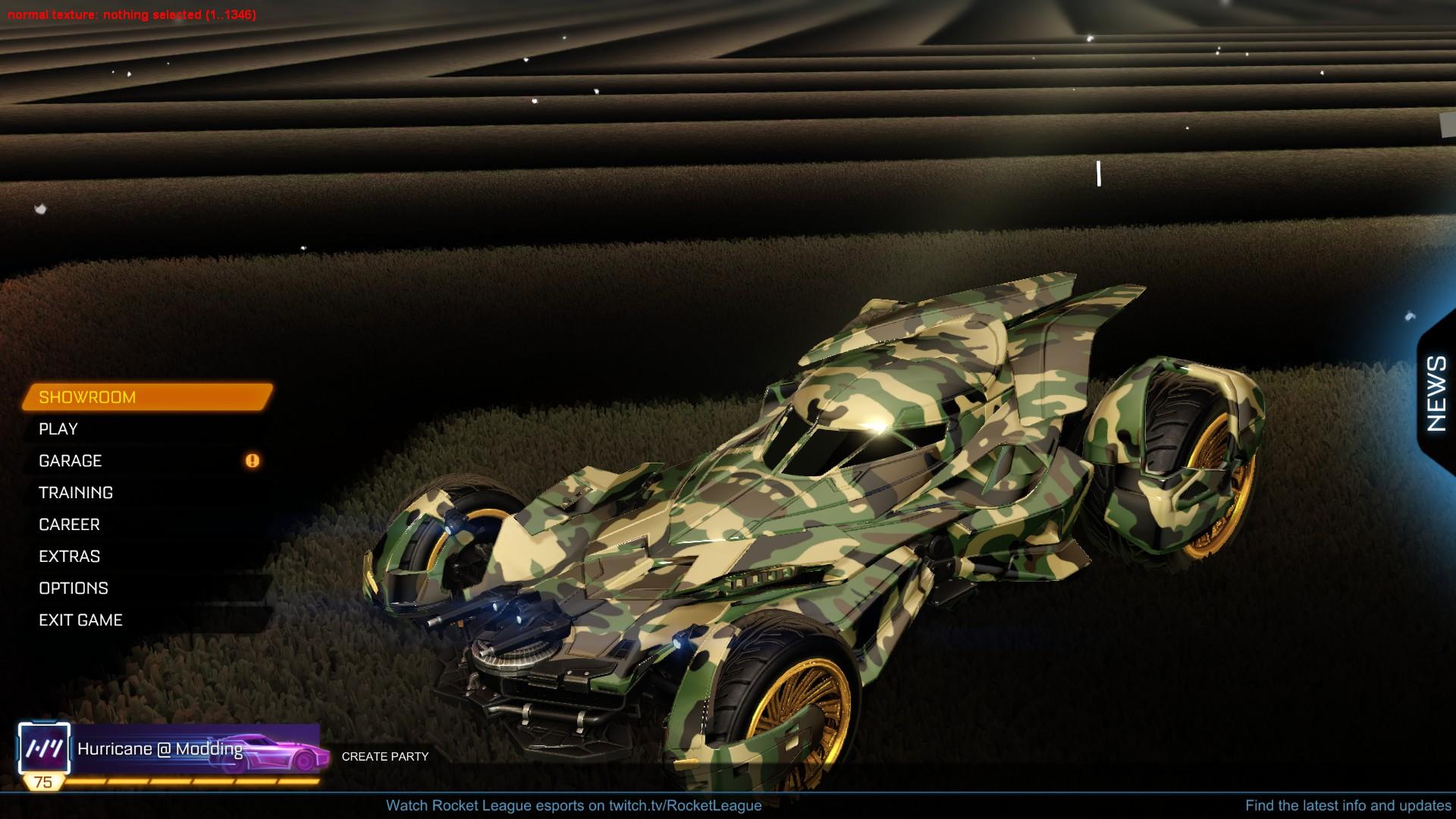 Batmobile'16 Camo (paintable!)