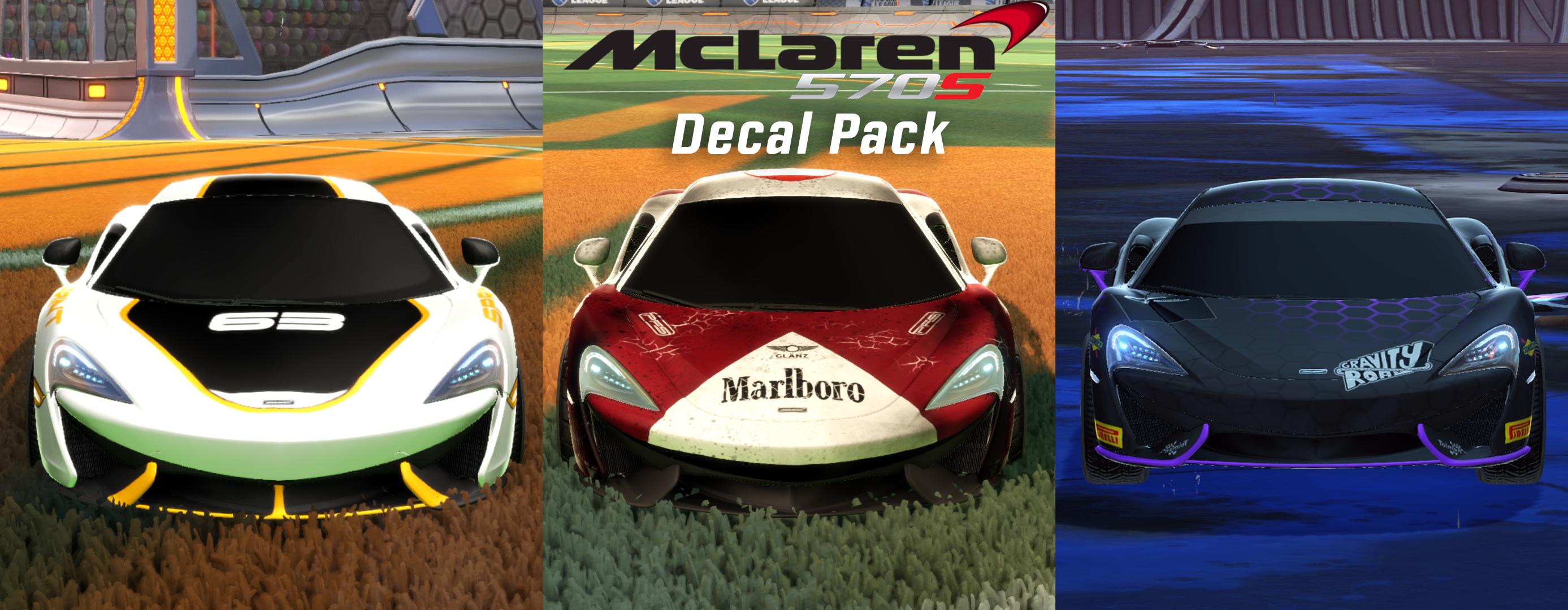 McLaren 570S Decal Pack